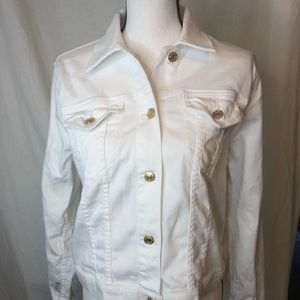 Michael Kors White Denim Classic Jean Jacket NEW